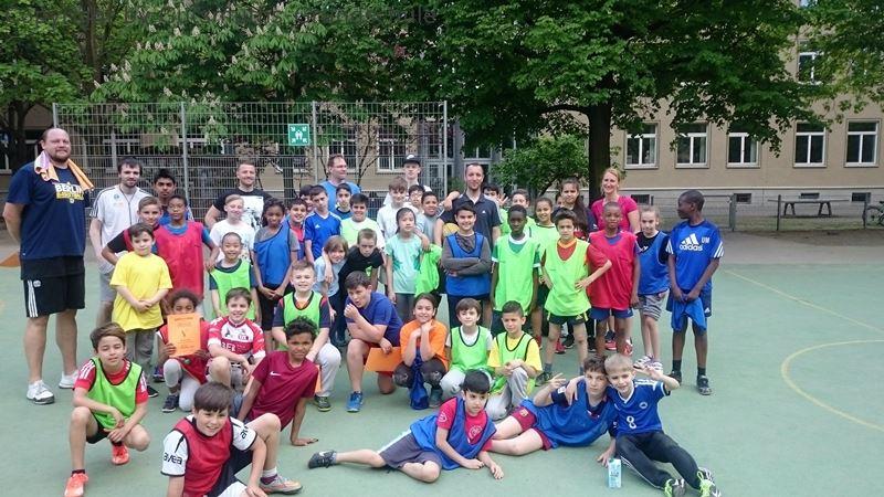 Basketball Team der GutsMuths Grundschule bei der GutsMuths Woche