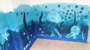 Schüler gestalteten die Wände im Untergeschoss