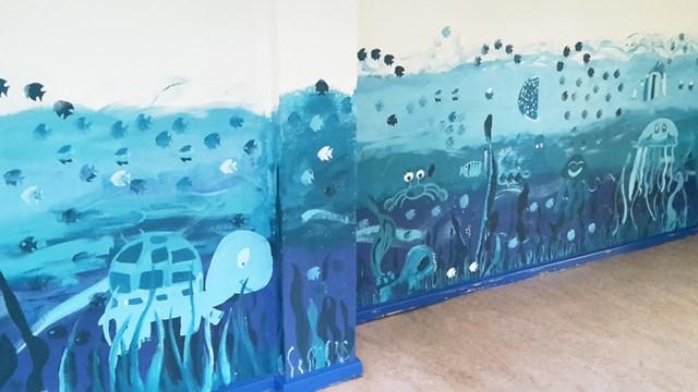 Wandgestaltung Unterwasserwelt